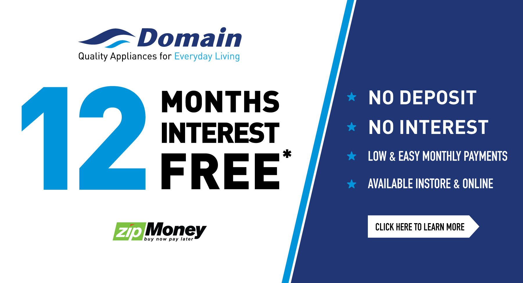 12 Months Interest Free ZipMoney