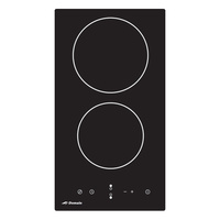 Two Burner Ceramic Glass Electric Cooktop With Touch Controls - 288MM