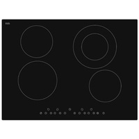 Ceramic Glass Electric Cooktop with Touch Controls - 700mm