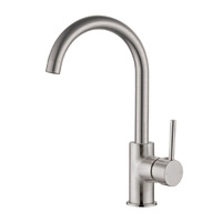 Gooseneck Kitchen Mixer Tap Brushed Nickel Finish - DOLCE-RND-BN