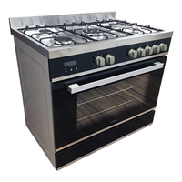 9 Function Black Glass Freestanding Cooker - 900mm