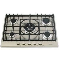 Gas Cooktop with Cast Iron Trivets and Wok Burner - 680mm