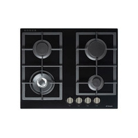 Premium Gas on Glass Cooktop with Flame Device and Wok Burner - 610mm