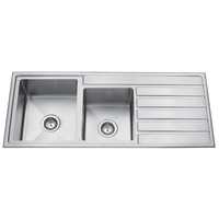 Premium Top Mount 1 + 3/4 Bowl Kitchen Sink with Drainer - 1200mm