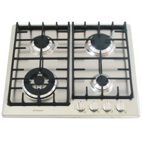 Stainless Steel Gas Cooktop + FFD & Cast Iron Trivets - 580mm - IGC60WOK-A