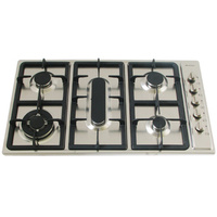 Stainless Steel Gas Cooktop + FFD + Fish & Wok Burner- 860mm