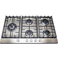 Stainless Steel Gas Cooktop + FFD & Side Wok Burner - 860mm