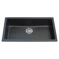 Single Bowl Black Granite Stone Topmount Kitchen Sink  - 790mm