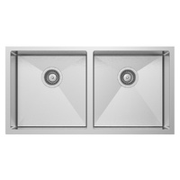 Double Bowl Under Mount or Top Mount Kitchen Sink - 860mm