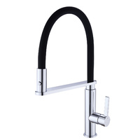 Goose Neck Black Silicone Pull Out Vegie Sprayer Kitchen Mixer Tap