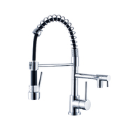Dual Action Spring Neck Pull Out Vegie Sprayer Kitchen Mixer Tap - VENUS-SPG-LX