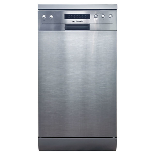 45cm Slimline 8 Place Stainless Steel Electronic Freestanding Dishwasher
