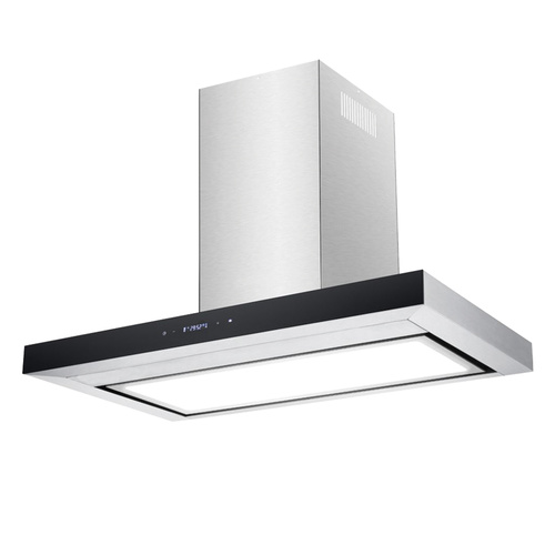 Premium Stainless Steel Flat Canopy Rangehood with LED Light Panel - 900mm
