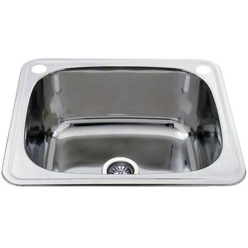 600mm Kitchen Sink : Home Kitchen Sinks Top Mount Topmount Laundry Trough / Sink - 600mm