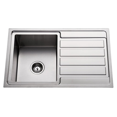 Premium Top Mount Single Bowl Kitchen Sink with Drainer - 780mm - PTM100