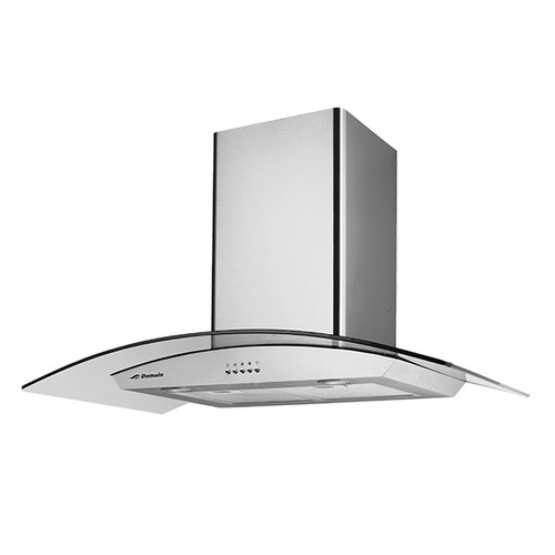 Stainless Steel Curved Glass Canopy Rangehood - 900mm