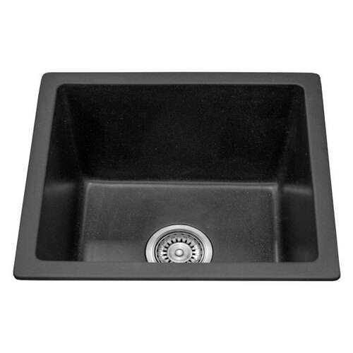 Single Bowl Black Granite Stone Topmount Kitchen Sink  - 460mm