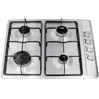 4 Burner Gas Cooktop - 580mm - GAS60STD-B