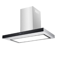 Premium Stainless Steel Flat Canopy Rangehood with LED Light Panel - 900mm - HLF-90