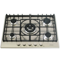 Stainless Steel Gas Cooktop + FFD & Cast Iron Trivets - 680mm - IGC70WOK-A