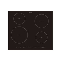 Four Burner Dual Bridge Induction Cooktop With Touch Controls - 590MM